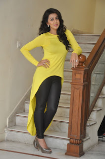Actress Nikki Galrani Latest Picture Gallery in Yellow Top and Tights  0043