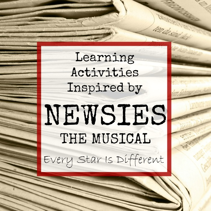 Learning Activities inspired by Newsies