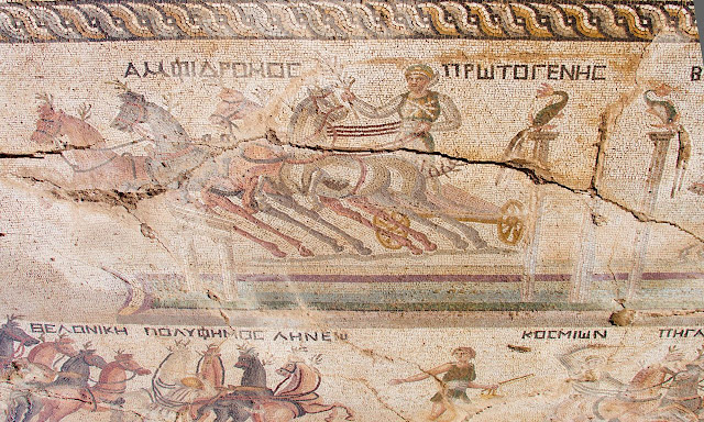 Unique 4th-century mosaic of chariot race found in Cyprus