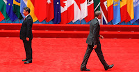 President Obama (right) walks away after shaking hands with China's president, Xi Jinping, before the opening of the Group of 20 Summit in China's Zhejiang province in September. As Obama walks off the world stage in January, leaving a possibly broken climate change legacy behind him, many wonder what role China will play in filling the U.S. void. (Credit: AP Images) Click to Enlarge.