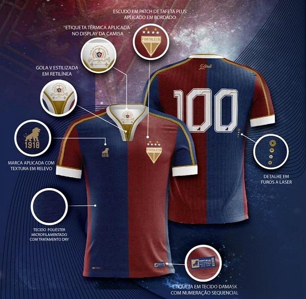 Leão 1918 lança a nova terceira camisa do Fortaleza - Show de Camisas 97b00c231b203