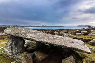 Megalithic Burial Chamber Whitesands Bay Pembrokeshire Coastal Path Wales