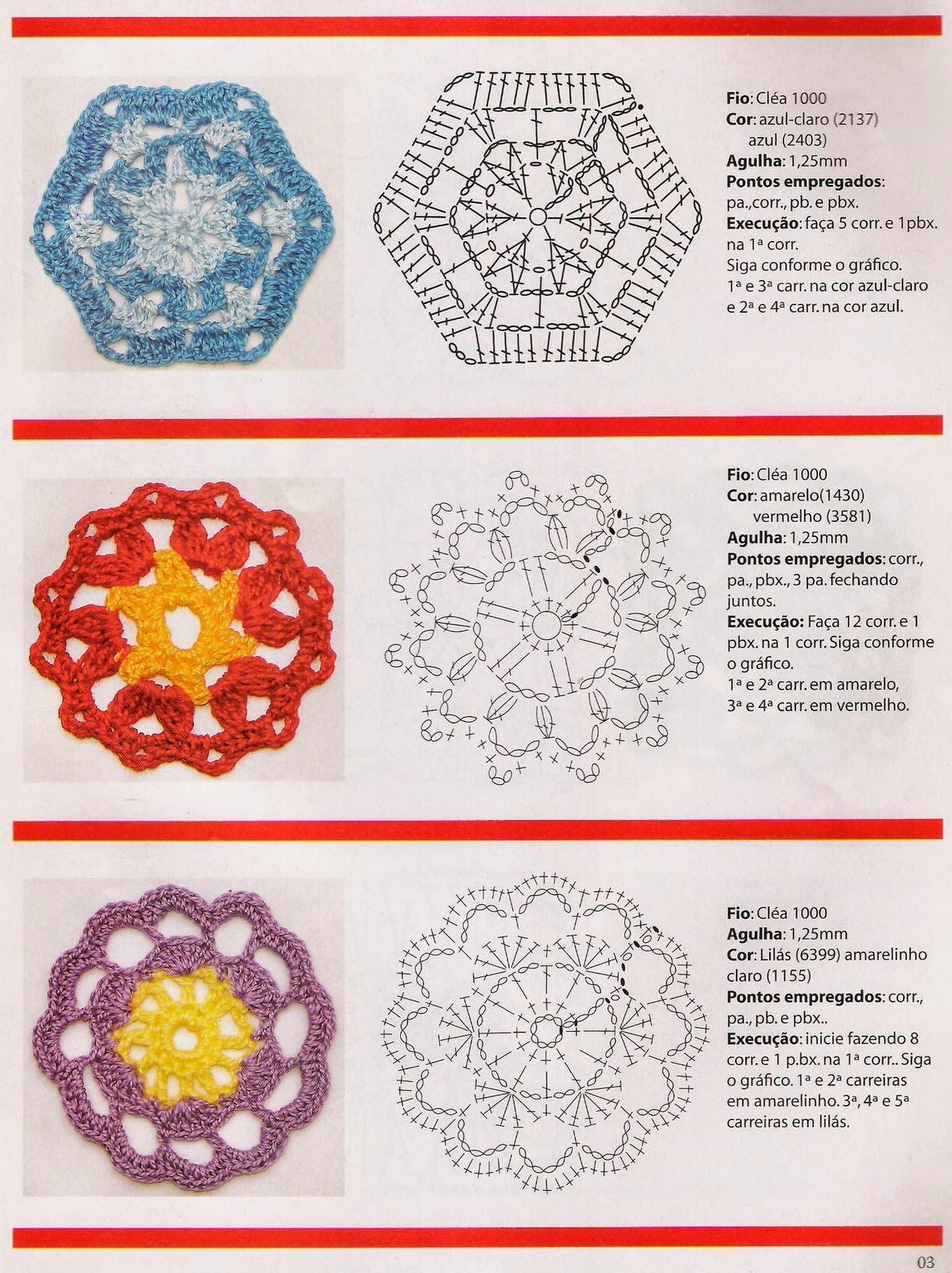 Flores en crochet paso a paso - Revistas de crochet y tejidos gratis
