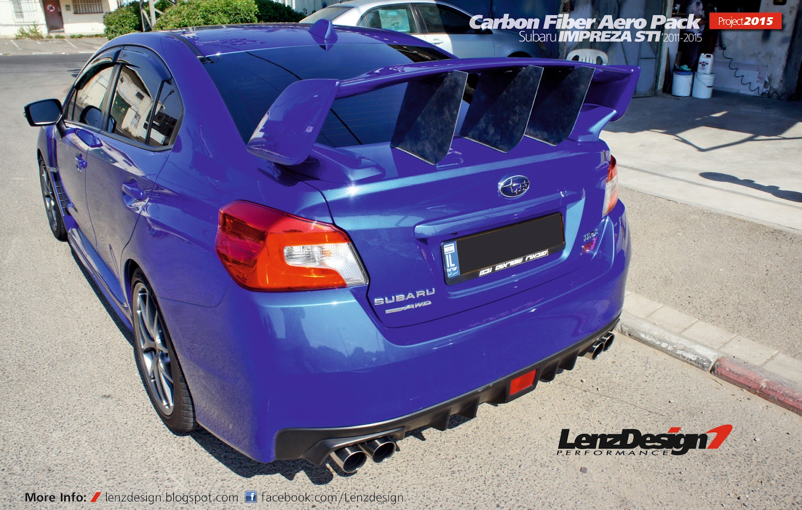 2012 Subaru Sti >> Subaru WRX STI 2014-2016 Carbon Fiber Roof Spoiler & Support Stabilizer by Lenzdesign