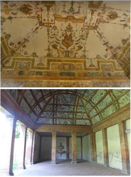 la loggia e gli affreschi nella Palazzina Marfisa d'Este
