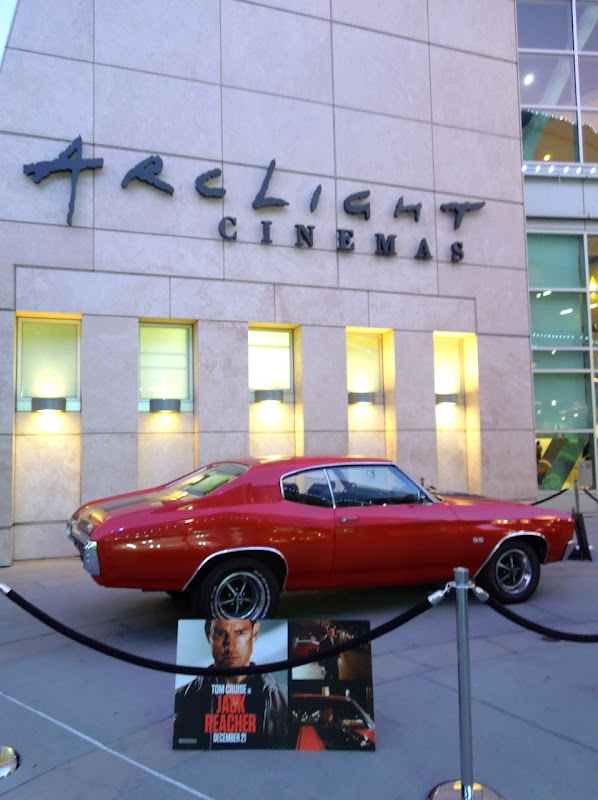 Jack Reacher 1970 Chevrolet Chevelle SS car Arclight hollywood