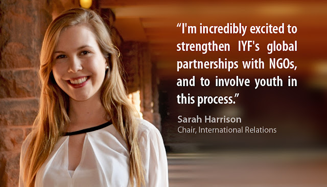 Sarah Harrison, IYF Chair of International Relations