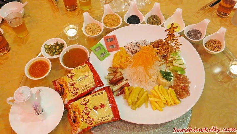 Golden Fortune Yee Sang, assorted fruits, nuts, CNY 2015, Tai Thong Spring Reunion, Food Review, Chinese Food, Tai Thong Group