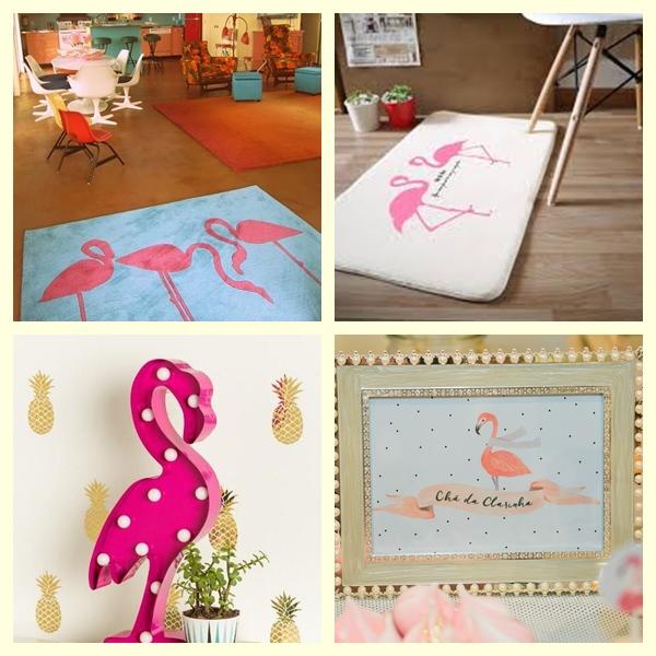 Tapetes e capachos flamingos