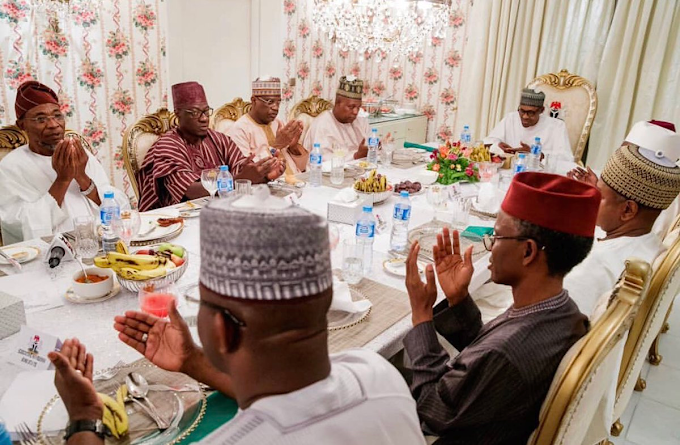 WHAT WOULD YOU CALL THIS Buhari Closed Door Meeting with APC governors