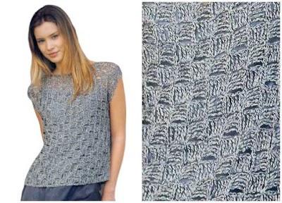 Jersey de Cuadraditos de Crochet