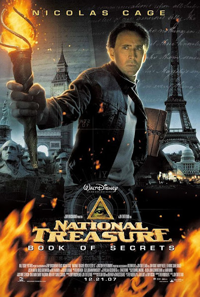 Poster of National Treasure Book of Secrets 2007 720p Hindi BRRip Dual Audio