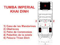 Plano de la tumba Imperial Khai Dinh de Hue