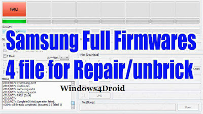 Repair Firmware (4Files) Galaxy Note GT-N7000B