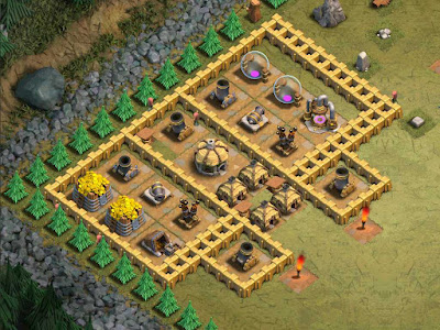 """Base Goblin Map """"33. Full Frontal"""" Clash of Clans"""