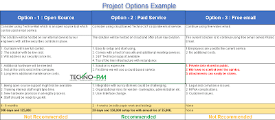 Project Options Example