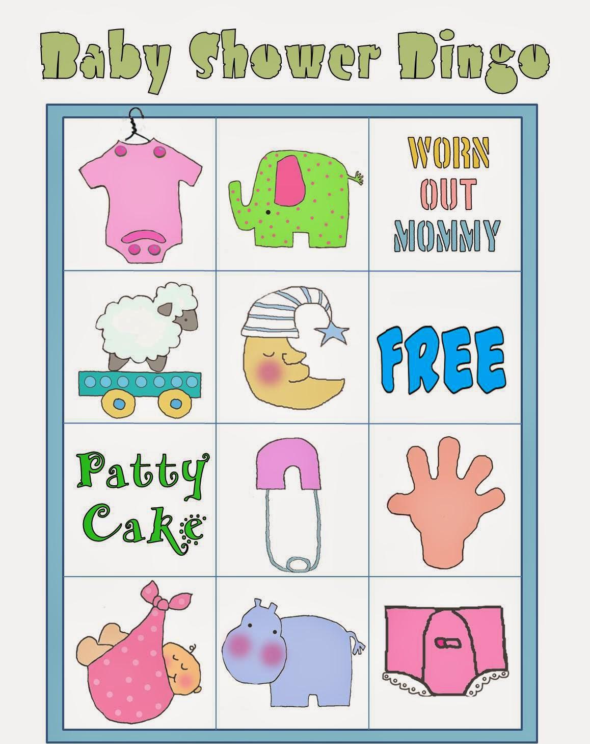 Bingo en Colores para Baby Shower para Imprimir Gratis ...