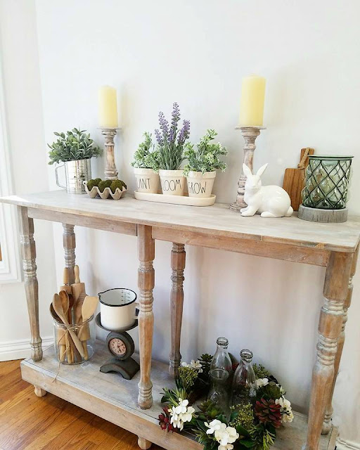 DIY rustic wood side table