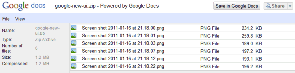 Google Docs Viewer Supports Zip And Rar Archives
