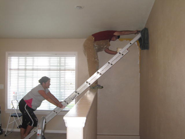 How To Paint Vaulted Ceilings Over Stairs Www