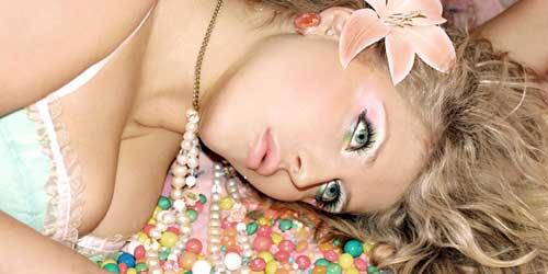 maquillaje de ojos color pastel