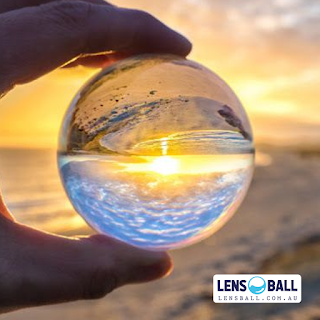 Lensball Beach Photography Sunset