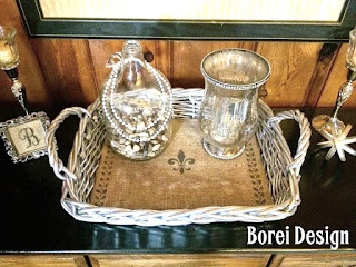 How to upcycle a thrift store serving basket.