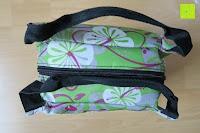 gefüllt: Aosbos Wasserdichte Lunch Tasche Isolierte Thermo Picknicktasche für Lebensmitteltransport(Grün Blumen)
