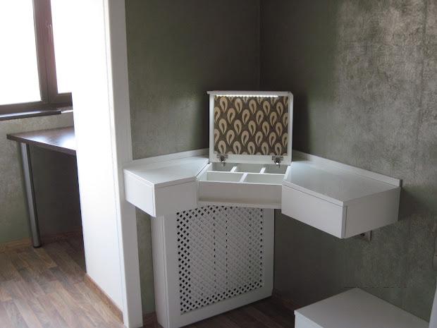 Corner Dressing Table Idea