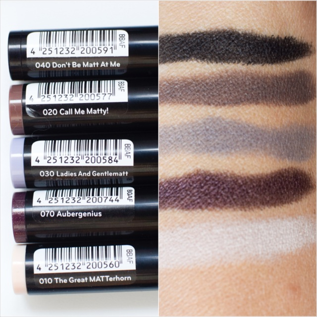 catrice Eye'Matic Matt Eyepowder Pen Swatch Herbst Winter 2016