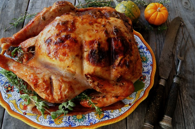 Smoky Paprika-Bacon Roasted Turkey by Cooking on the Weekends
