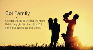 Gói cước Viettel trả sau Family