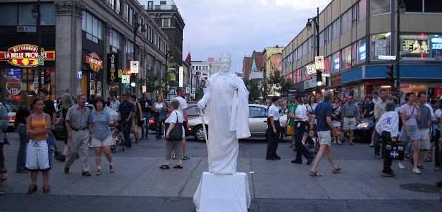 Statue Lady, Montreal Jazzfest