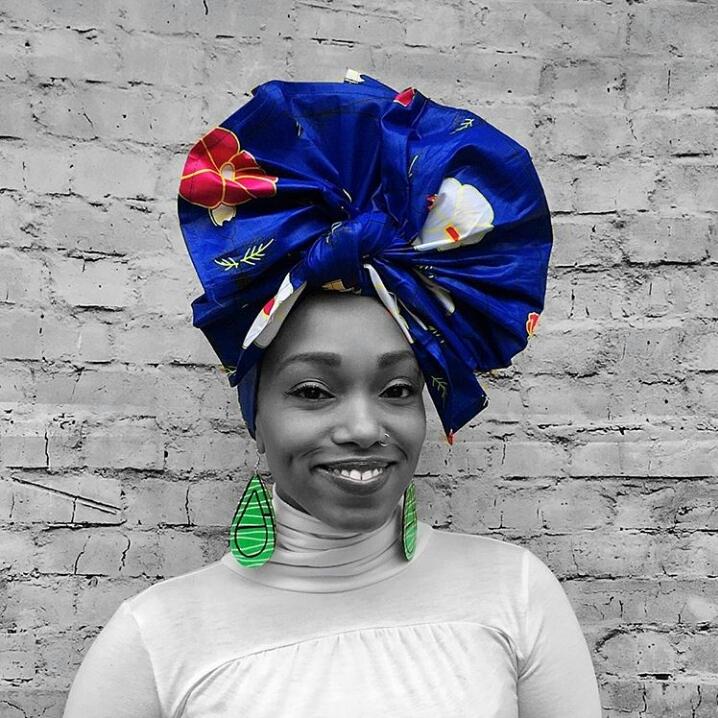royal blue head wrap