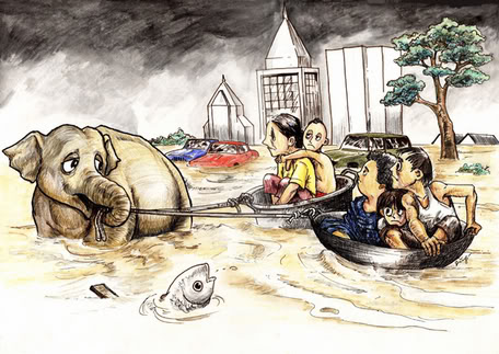 Ilustrasi bencana alam