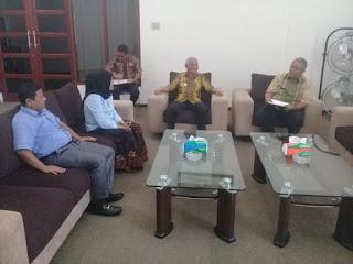 Pelaksanaan Kampung Pengawasan Pemilu, Bawaslu Audensi Ke Pemkab Asahan