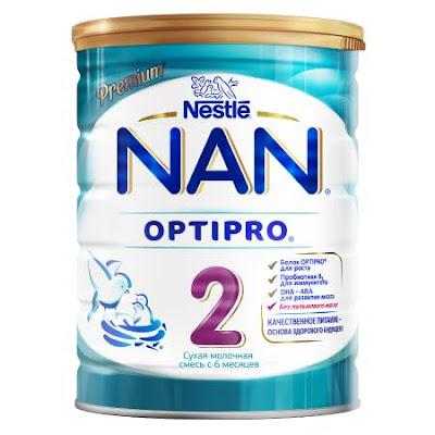 Sữa NAN 2 hộp 800gr từ 6 tháng tuổi - Sữa NAN Nga xách tay chính hãng