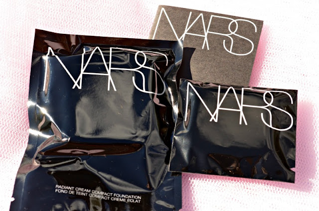 NARS Cream Compact Foundation inside the plastic wrappers