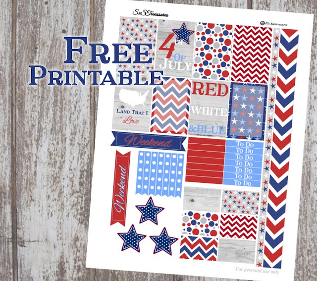 forth of july planner printable