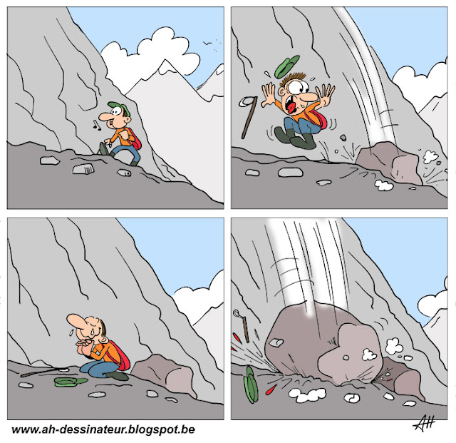 montagne, dessin, pas de bol !