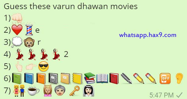 Guess these varun dhawan movies Whatsapp Quiz