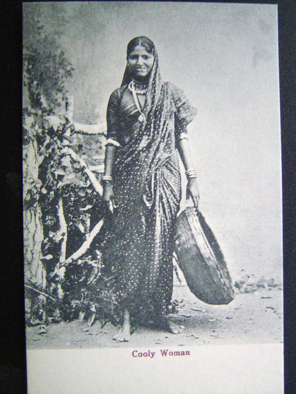 India Cooly (Porter) Woman - Postcard c1910