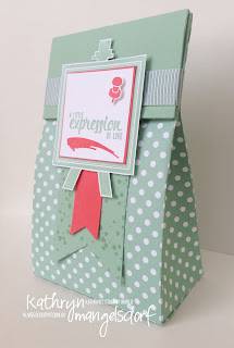 Kathryn Mangelsdorf Stampin' Up! Onstage Painter's Palette Gift Bag