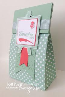 Kathryn Mangelsdorf Stampin' Up! Onstage Painter's Palette Gift Bag