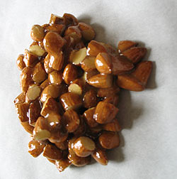 honeyed almonds