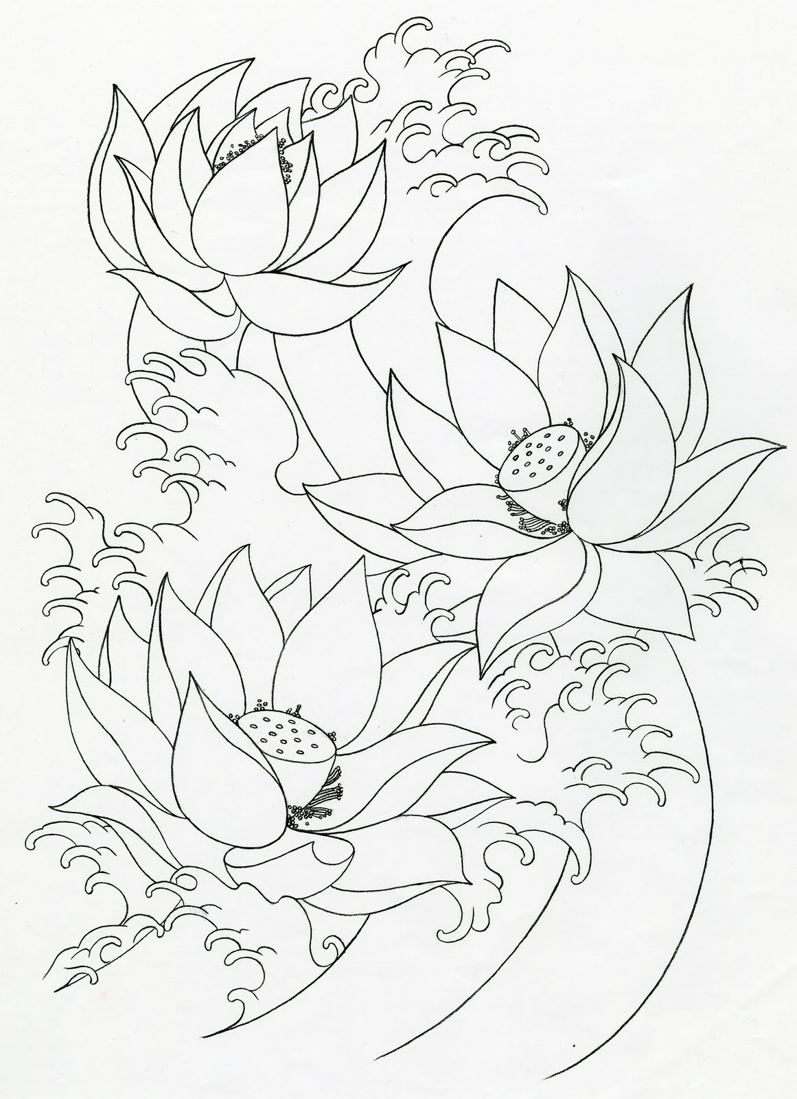 Mike's TATTOO design: Lotus