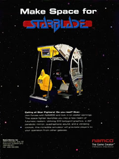 Star Blade+arcade+game+portable+3d+rail shooter+art+flyer