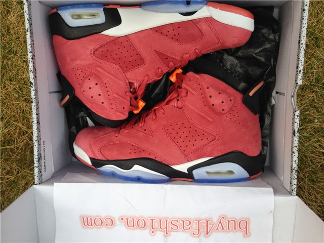 best service cb6b5 17150 雅馨阁: Authentic Air Jordan 6 Macklemore Red from www ...
