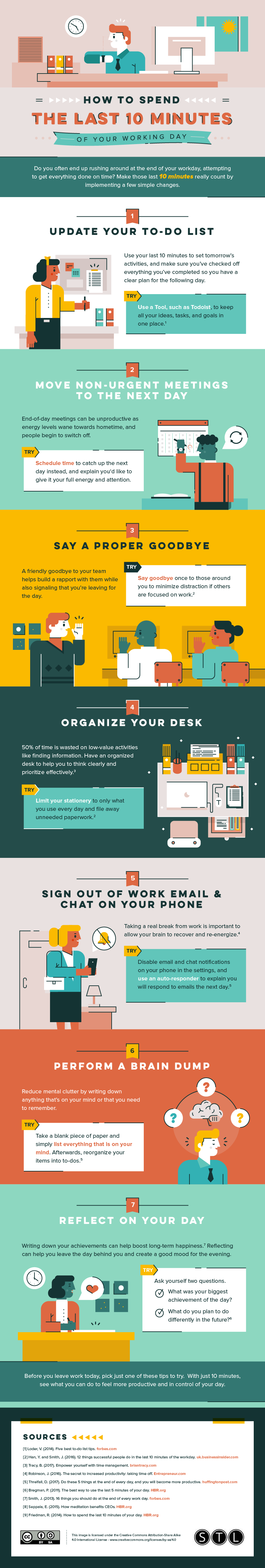 How to Spend The Last 10 Minutes of Your Working Day - #infographic