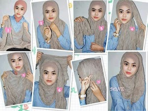 8+ Tutorial Cara Memakai Hijab Modern Paris 2018 Mudah & Simple